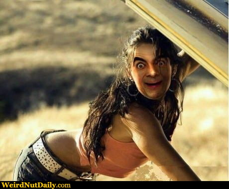 Funny Pictures @ WeirdNutDaily - Sexy Mr. Bean