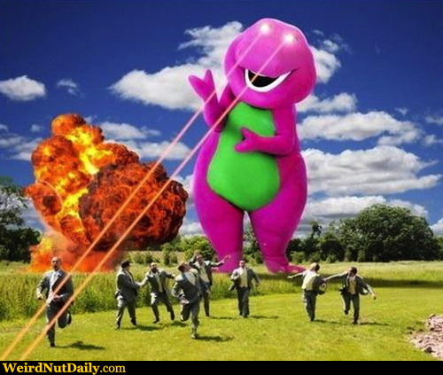 Funny Pictures @ WeirdNutDaily - We All Knew Barney Was ...