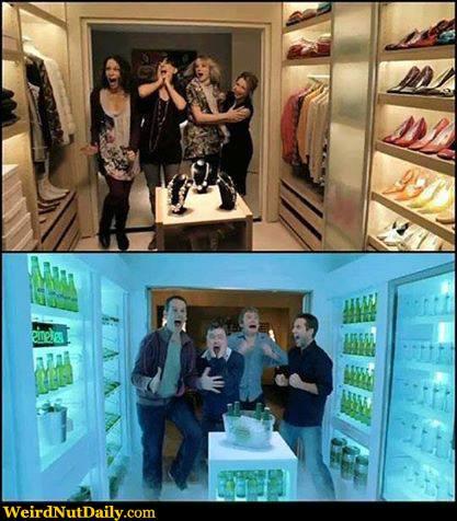 Mens Closet funny pictures @ weirdnutdaily - women vs. men's closet dreams