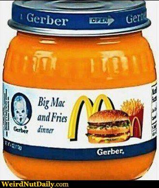 Gerber Baby Food Big Mac And Fries