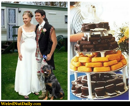 Funny Pictures WeirdNutDaily Trailer Trash Wedding